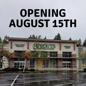 Front of the new Sprouts Farmers Market in Mill Creek Washington